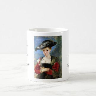 The Straw Hat Peter Paul Rubens masterpiece Basic White Mug