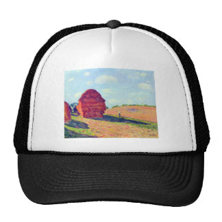 The straw rents by Alfred Sisley Trucker Hat
