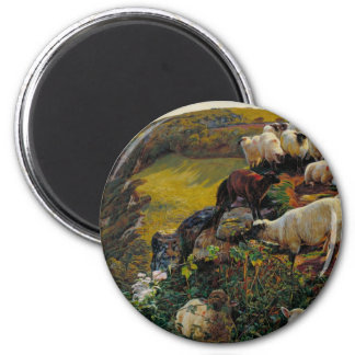The Strayed Sheep 6 Cm Round Magnet