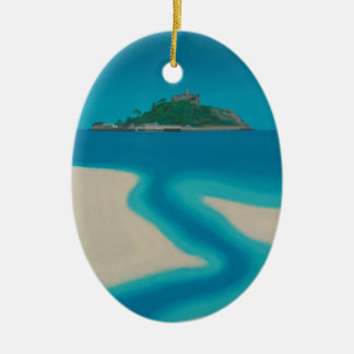 The Stream. Ceramic Ornament