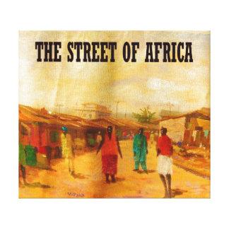 THE STREET OF AFRICA BY MOJISOLA A GBADAMOSI OKUBU CANVAS PRINT