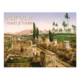 The Street of Tombs, Pompeii, Italy Postcard