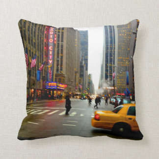 The Streets Of NYC Cushion
