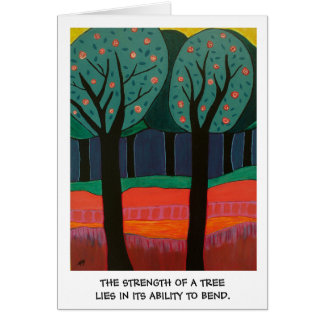 The Strength of a Tree Greeting Card