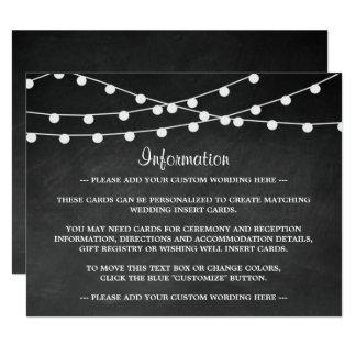 The String Lights On Chalkboard Wedding Collection 11 Cm X 14 Cm Invitation Card