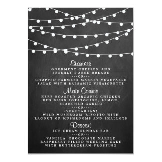 The String Lights On Chalkboard Wedding Collection 11 Cm X 16 Cm Invitation Card