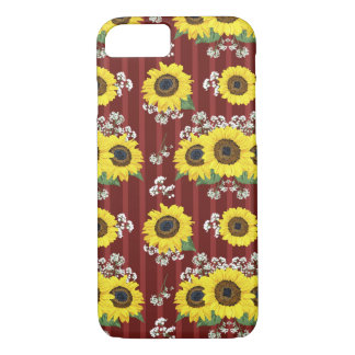 The Striped Red Fresh Sunflower Seamless Pattern iPhone 8/7 Case