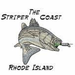The, Striper Coast, Rhode Island Embroidered Polo Shirt