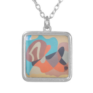 The stroke silver plated necklace