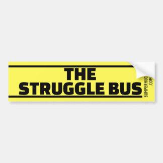 The Struggle Bus Bumper Sticker