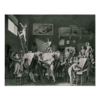 The Studio of Jacques Louis David Poster