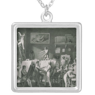 The Studio of Jacques Louis David Silver Plated Necklace