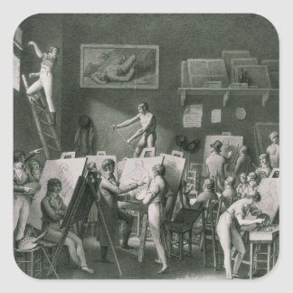 The Studio of Jacques Louis David Square Sticker