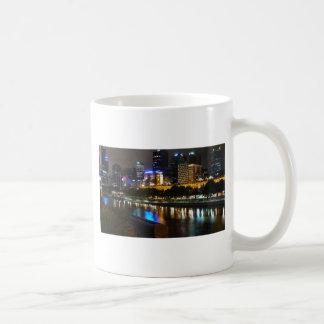 The Stunning Yarra And Melbourne Skyline at Night Coffee Mug