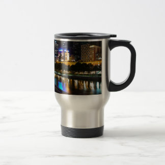 The Stunning Yarra And Melbourne Skyline at Night Travel Mug