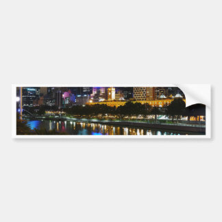 The Stunning Yarra River And City Skyline at Night Bumper Sticker