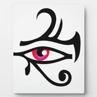 The stylized eye of Horus Display Plaques