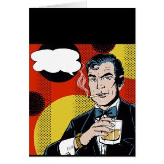 The Suave Secret Agent Card