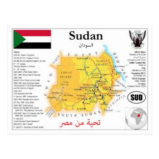 The Sudan map postcard