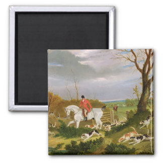 The Suffolk Hunt - Going to Cover near Herringswel Magnet
