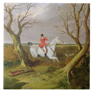 The Suffolk Hunt - Gone Away (oil on canvas) Ceramic Tile