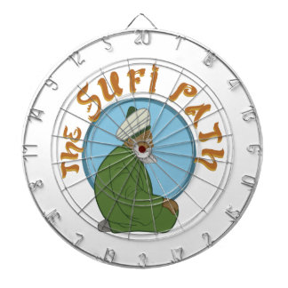 The Sufi Path Dartboard With Darts