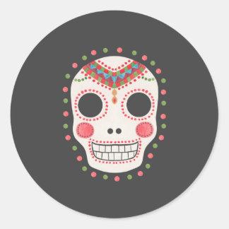 The Sugar Skull Round Stickers