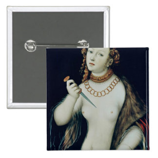 The Suicide of Lucretia, 1538 15 Cm Square Badge