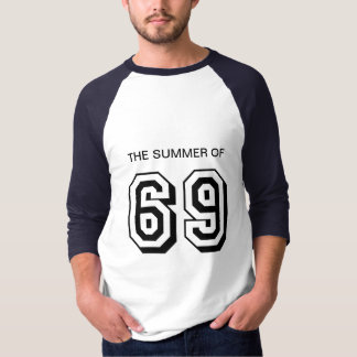 The summer of 69 blue and white mens top