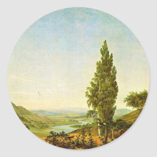 The Summer, The Summer  (Landscape With Lovers) Round Sticker