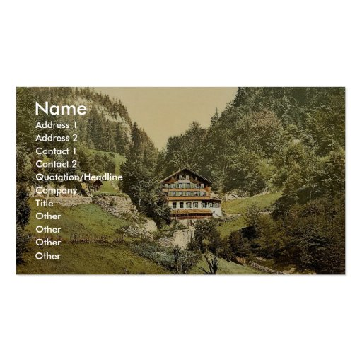 The Summit Hotel, Brunig, Bernese Oberland, Switze Business Card Templates