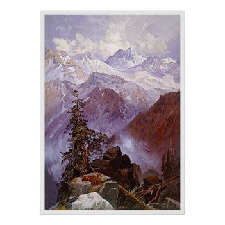 The Summit of the Sierras Poster