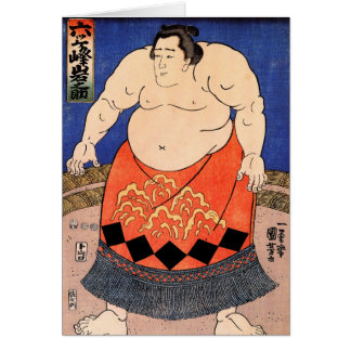 The Sumo Wrestler Kuniyoshi Utagawa Greeting Card