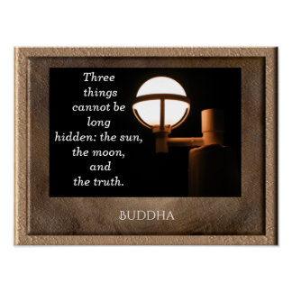 The Sun and the Moon -- Buddha quote - art print