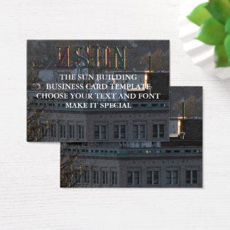 THE SUN BUILDING BUSINESS CARD TEMPLATE