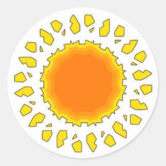 The Sun Classic Round Sticker