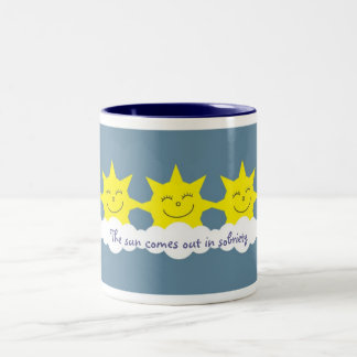 The sun comes out in sobriety mug