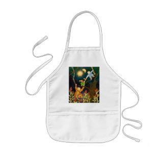 The Sun n The Moon Korean Folklore Illustration Kids Apron