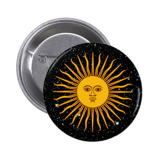 THE SUN OF MAY (Sol De Mayo) space theme ~ 6 Cm Round Badge
