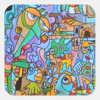 The Sun Ride by Lorenzo Traverso Square Sticker