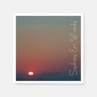 The Sun Rises Paper Napkins