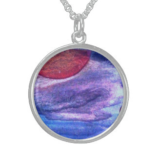 The sun wild duck clouds round pendant necklace