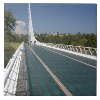 The Sundial Bridge at Turtle Bay Large Square Tile