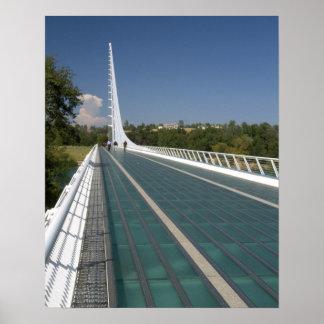 The Sundial Bridge at Turtle Bay Poster
