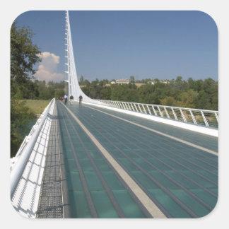 The Sundial Bridge at Turtle Bay Square Sticker