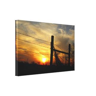 The Sundown Blues Canvas Print
