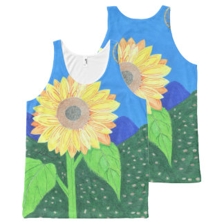 The Sunflower By Julia Hanna All-Over Print Tank Top