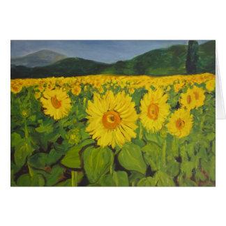 The Sunflower Field Card