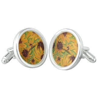 The Sunnies Sunflower Cufflinks by Michael David