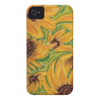 The Sunnies Sunflowers by Michael David iPhone 4 Case-Mate Case